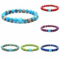 piedras pulsera de perlas elegante, hombres, mujeres, púrpura, verde azul rojo emperador imperial piedra pulsera del ópalo brazalete de cuentas