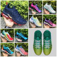 Venta caliente 2019 Plus Tn Rainbow Shoes Hombres Bumblebee Be True Grape Triple Black Designer Casual Shoes Sherbet Team Red Black White Sneakers