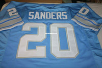 Cheap Retro #20 BARRY SANDERS RB CUSTOM MITCHELL & NESS Jers...
