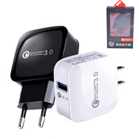 QC3.0 USB Chargeur Murale Charge Rapide Charge Rapide Voyage Adaptateur secteur Pour Samsung S10 S9 Note 9 iPhone XR Android Phone