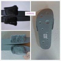 원래 상자 Leadcat 펜티 리안으로 보내기 여성 슬리퍼 실내 샌들 여자 패션 슬리퍼 핑크 블랙 화이트 그레이 슬라이드 신발