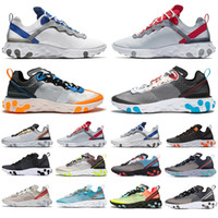 React Element 87 55 Running Shoes For Men Women Sail SE Tape...