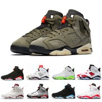 Travis Scotts X 6 Medium Olive 6s Männer Basketballschuhe Tinker Schwarz Infrarot Cactus Jack Sport Blau Oregon Mens sports Turnschuhe US 7-13