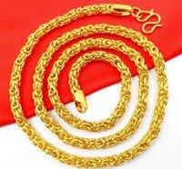 Nuevo collar vietnamita de hueso de serpiente bañado en oro vietnamita de oro de 24 k