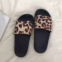 pantofole da donna Estate Retro Roma Leopard Slipper Fashion Casual Home Pantofole Scarpe da spiaggia dames zomer 2019 # BYY40