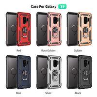 Per Samsung Galaxy S9 S9 plus S8 S8 plus Nota 8 Nota 9 Galaxy J2 core A10 A20 A30 Supporto per anello Cavalletto per armatura Custodia magnetica