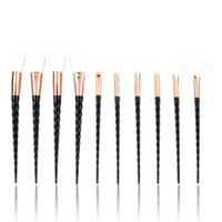 10pcs Makeup Brush Spiral shank Eye shadow brushes Sets Hors...
