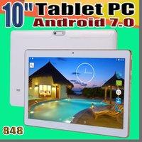 848 Arrivée 10 pouces Tablet PC MTK6582 Octa base Android 6.0 Tablet 4 Go de RAM 64GB ROM 5MP écran IPS téléphone GPS 3G Comprimés E-10PB