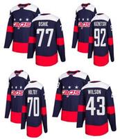 Hombre Washington Capitales Navy 2018 Estadio Serie Steinsed Jersey, Men 77 Oshie 43 Wilson 70 Holtby 92 Kuznetsov 19 Backstrom Hockey Jersey