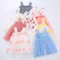 아기 여자 꽃 인쇄 드레스 귀여운 거즈 민소매 슬립 드레스 여름 키즈 소녀 공주 드레스 아동 의류 D61805