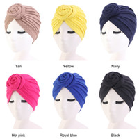 Newest Ladies hat autumn and winter new bohemian style knotted cap ladies hooded cap 8 color