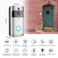 Frete Grátis Inteligente WiFi Vídeo Camera Camera Visual Intercomunicador com Chime Night Vision, Porta IP Bell Wireless Home Security Camera
