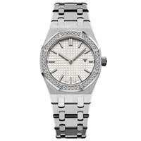 nouvelles 33MM pleine montre or bracelet en acier inoxydable haut de saphir montre-bracelet de la qualité lumineuse des femmes montres étanches 5ATM