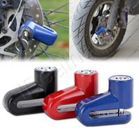Motocicleta robusta rueda de disco de frenos anti bloqueo de seguridad del ladrón de alarma anti robo Motorcycl disco del rotor del freno de bloqueo