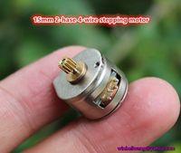 10pcs / lot! Tout nouveau micro moteur pas à pas 15x11mm 18dgree 4 fils en phase 2 ~ 15mm
