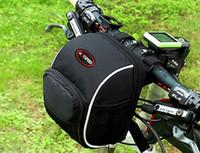 saco de guiador da bicicleta cor preta ciclismo MTB bicicleta sacos impermeáveis 1680D 16 * 12 * 11cm