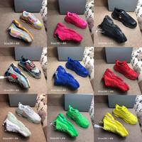 Balenciaga Plate-forme Triple S clair bullé Midsole Chaussures Casual Multicolor chaussures combinaison sneaker des femmes des hommes de mode Top Taille Qualité 36-45