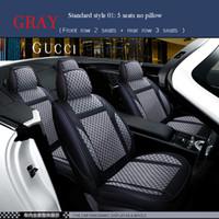 Универсальная кожаная / льняная подушка сиденья для Honda Accord Fit CRV CRV City Crider Fit Самый седан внедорожник Полный комплект защиты автомобильных сидений