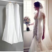 180 cm grande indumento abito da sposa copertura da sposa abito da sposa sacchetto bianco antipolvere sacchetto di stoccaggio per abiti da sposa di alta qualità in magazzino