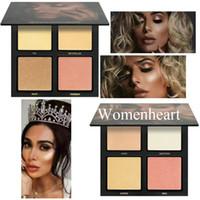 En stock nouveaux surligneurs de bronzage délicats de maquillage de haute qualité de maquillage de la qualité 4