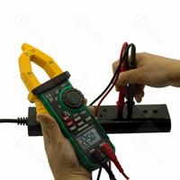 MS2109A 디지털 듀얼 디스플레이 AC DC 클램프 전류계 600A 높은 품질 클램프 테이블 용량 온도 주파수