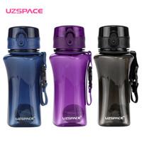Uzspace 350 ml esportes garrafas de água tritan shaker portátil à prova de fugas de plástico ao ar livre minha bebida garrafa drinkware