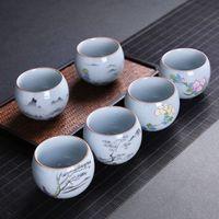 elegante le vierte la taza de té del horno de cerámica de una taza, pintura de paisaje poético personalidad taza de té de la taza maestro