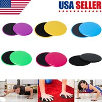 Neue 2 x Gliding Discs Disc Kerngleitstücke Dual-Sided Fitness Home Gym Abs Übung Fitness-Tools