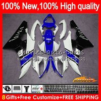 Body OEM voor Yamaha YZF R 6 600CC YZF 600 YZF-600 06-07 Frame 61NO.122 YZF-R6 YZF600 Blauw Hot Koop YZF R6 YZFR6 06 07 2006 2007 Fairing Kit
