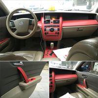 Для Nissan Teana J31 2003-2007 годы Центральный контроль Панель управления дверной ручкой 5D Углеродные волокна наклейки наклейки на наклейки укладки автомобиля Accessorie