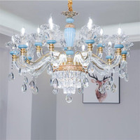 European style crystal chandelier living room pendant lamps ...