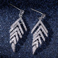 Creative Leaf Shaped 925 Silver Earrings for Women high qual...