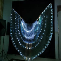 P98 Bellydance ballroom stage wear led costumes white women luminous cloak dj glowing led wings butterfly perform party show ds party wears