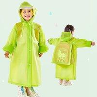 Bolso de la escuela de la escuela con capucha impermeable EVA impermeables Niños Poncho Niños Ropa de lluvia Viaje Abrigo de lluvia 5 colores Impermeable Reserve Use DH0737 Bsuil
