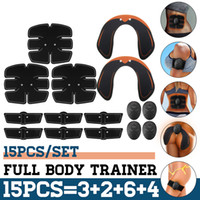 15PCS Set EMS Muscle Abdominal Trainer Smart Wireless Muscle...