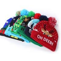 الصمام عيد الميلاد بيني محبوك القبعات تضييق للجنسين الشتاء الدافئة الجمجمة قبعات هالوين ديكور الأزياء xmax pompon الكرة القبعات KSS368