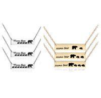 Hot Mama Pendentif ours collier bébé ours bijoux de charme de la mode chaîne claviculaire bébé cadeau pour la fête des Mères accessoires en alliage collier