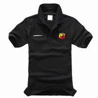 New Men Cotton Fashion Brief Volltonfarbe Abarth Polohemd Sommer Kurzhülse beiläufige Oberseiten-Sommer-Shirt