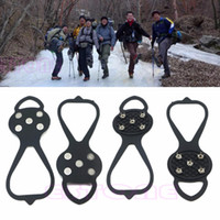 1Pair Ice Snow Studs Non- Slip Spikes Shoes Boots Grippers Cr...
