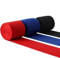 الصالة الرياضية تجريب مطاطا القطن الخالص الملاكمة حزام اليد التفاف 2.5M قفازات الملاكمة معصم اليد ضمادة واقية الساخن بيع