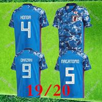 2019 2020 Japonya Ev Futbol Formaları Mavi Milli Takımı 19/20 Futbol Gömlek # 10 Kagawa # 9 Okazaki # 4 Honda Futbol Üniforması