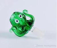 Octopus Blase Kopf Großhandel Glas Bongs Ölbrenner Glaswasserpfeifen Bohrinseln Raucher Kostenlose