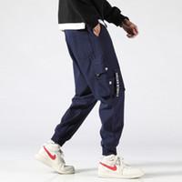 Fdfklak 2020 Нью-Спецодежда Мужской весна осень Повседневной японский стиль Перекидной нога штаны Диких молодежи Streetwear Мода Мужская PANTALON