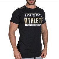 Mens 2019 여름 새로운 체육관 코튼 티셔츠 피트니스 보디 빌딩 셔츠 짧은 소매 남성 패션 캐주얼 티셔츠 탑스 의류