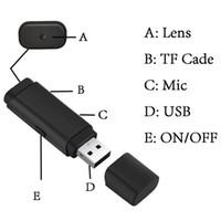 1080p U disco Mini cámara grabadora de video USB compatible con el trabajo de fotos y video en el cargador