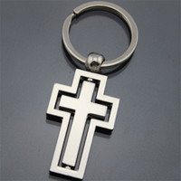 Cadeau Église Croix métal Pendentif Porte clés en alliage d'anneau de mariage clé Boucle Jouets pour enfants en gros 2 5 kD H1