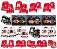 Chicago Blackhawks-Trikots 19 Jonathan Toews 88 Patrick Kane 00 Clark Griswold 12 Alex Debrincat Duncan Keith Kirby Dach Seabrook Hockey