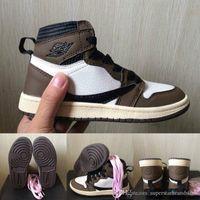 Çocuklar Kaktüs Jack 1 Basketbol Ayakkabıları OG 1 S Travis Scott Sneakers Çocuk Spor Ayakkabı Erkek Kız Toddler Eğitmen Koşu Ayakkabıları