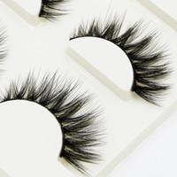 Природные крест Подумайте ресницы мягких 3d Многослойной Грязной Ресниц Stage Performance Sexy макияж инструмент Eye Lashes