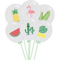 10pcs 12inch Birthday Party Confetti Colorido Festa de Verão Flamingo Latex Balões Cactus Decorações Baby Shower Decoração Hélio Ballon